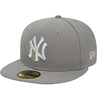 New Era Mens New York NY Yankees 59FIFTY MLB Essential Baseball Cap Hat - Grey