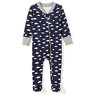 Moon and Back Boys' Organic Footed Zip-Front Sleep and Play