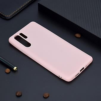 Voor Huawei P30 Pro Candy Color TPU Case (Roze)