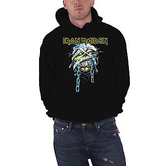 Iron Maiden Hoodie Powerslave Band Logo new Official Mens Black Pullover