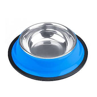 4oz. Tazón de perro de acero inoxidable azul