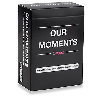 Our moments couples: 100 thought provoking conversation starters for great relationships - fun conve