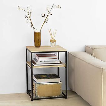 SoBuy FBT94-N,2 niveles mesa lateral mesa de centro mesa de la cama sofá mesa lateral