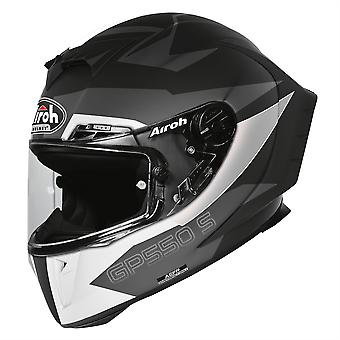 Airoh GP550S Vektor Full Face Motorcycle Helmet Black ACU Approved
