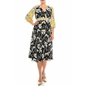Vestido Floral Impreso Midi Circle Falda