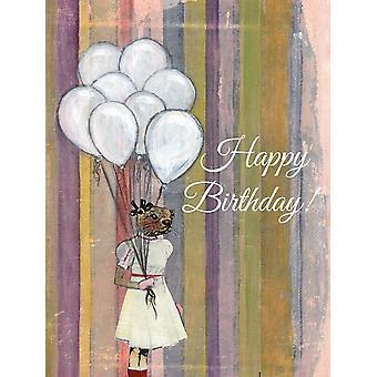 Balloon Otter Birthday Card