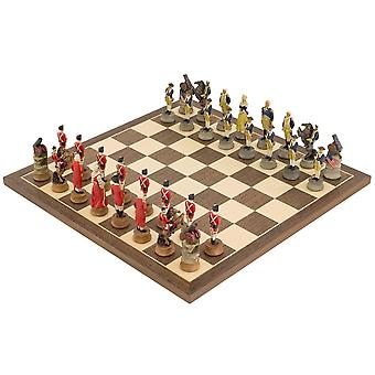 The American Revolution hand painted themed Chess set by Italfama
