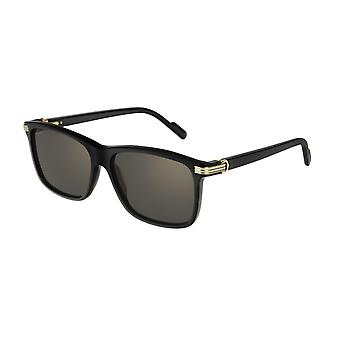 Cartier C de Cartier CT0160S 001 Black/Grey Sunglasses