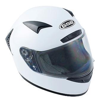 GSB G-335 Adult Full Face Road Helmet Plain White Gloss Small