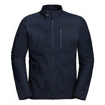 Jack Wolfskin Port Lincoln Mens Zip Up Jacket Navy 1305911 1010