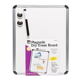 "Encadré Magnetic Dry Erase Board With Marker & Magnets, Silver Frame, 11"" X 14"""