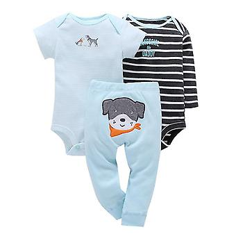 3Pcs Baby Outfit, Body, Top And Pants -Dog