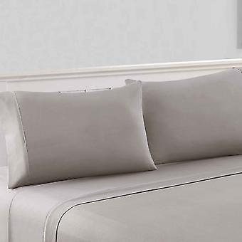 Bezons 4 Piece California King Microfiber Sheet Set With 1800 Thread Count, Gray