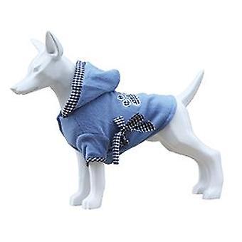 Freedog Tyylikäs fleece hupulla koirille sininen