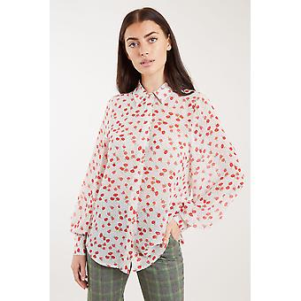 Louche Byron Flower Speckle Print Shirt White