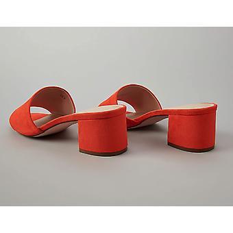 Brand - find. Wide Fit Simple Block Heel Mule Open Toe Sandals, Orange...