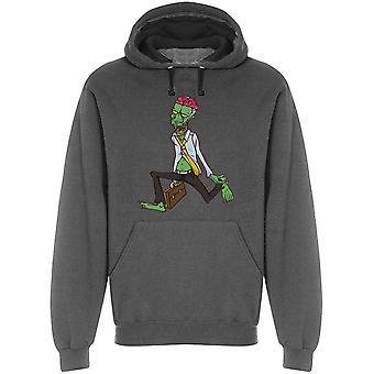 Working Funny Zombie Cartoon Hoodie Men&s -Bild av Shutterstock