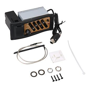 Svart brun 4 band pickup förstärkare preamp EQ-7545R för akustisk gitarr