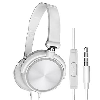 Wired Headphones With Microphone Over Gaming Ear Headsets Bass