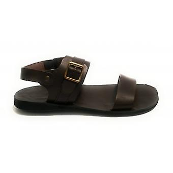 Men's Shoes Elite Sandalo Friar Leather Tread Bottom Color Moro Head Us18el17