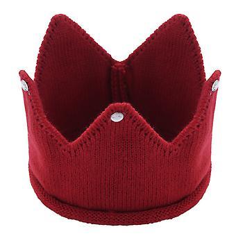 Baba kötött korona horgolt kalap téli meleg