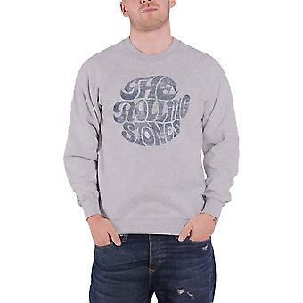 The Rolling Stones Sweatshirt Vintage 70s Band  Logo new Official Grey Unisex