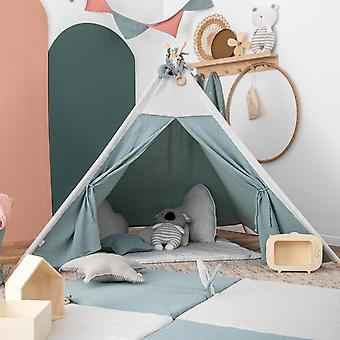 Authentic Teepee Play Tent Muslin Green