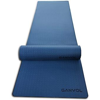 Ganvol Rubber Gym Mat,1830 x 61 x 6 mm, Durable Shock Resistant, Blue