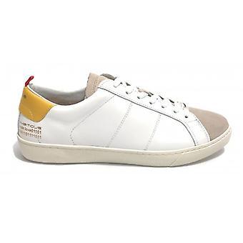 Pantofi pentru barbati Ambitious 8102 Sneakers din piele alba / Galben Us20am01