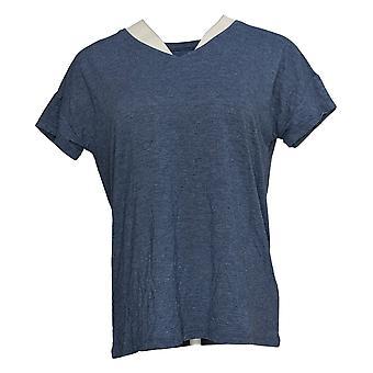 Noen Kvinner's Topp SeaWool Kjæreste V-Hals T-skjorte Blå A377834