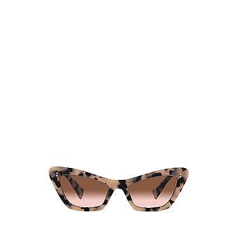 Miu Miu MU 03XS havana / gafas de sol femeninas rosas transparentes