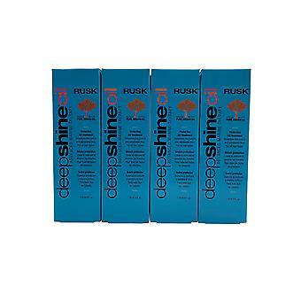 Rusk Deep Shine Oil Protective Oil Treatment 4 OZ Set of 4