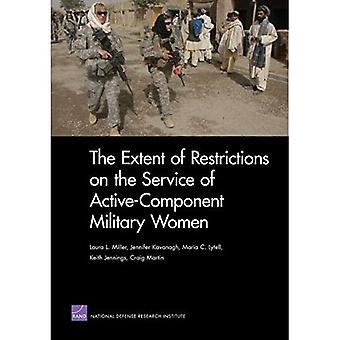 Omfanget af restriktioner på tjenesten for aktive komponent militære kvinder