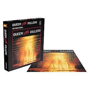 Queen Jigsaw Puzzle Live Killers Album Cover nye officielle Black 500 Piece