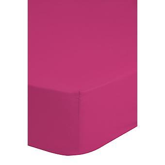 sträckt sängduk 180 x 220 cm bomull rosa