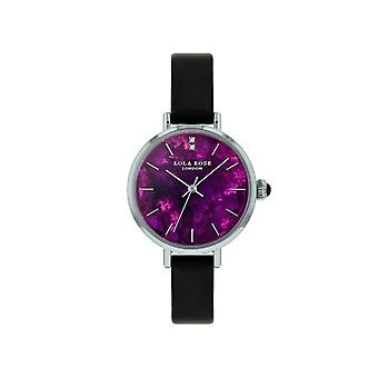 Lola Rose Lr2169 Purple Dial Leather Strap Watch For Women