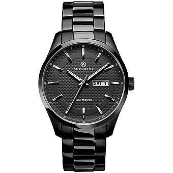 Accurist 7058 Classic Gunmetal Acero Inoxidable Hombres's Reloj