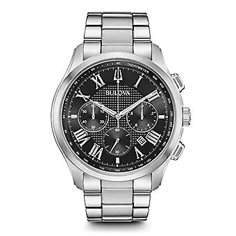 Bulova Mænds Kvarts Kronograf Ur med rustfrit stål Strap 96B288