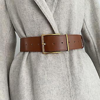 Moda pentru femei Wide Square Pin Cataramă imitație de piele talie curea curea