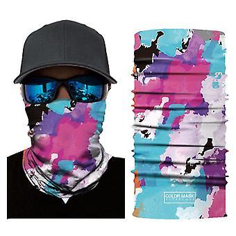 Yağlıboya tarzı güneşten korunma bisiklet maskesi erkekler ve kadınlar için uygun