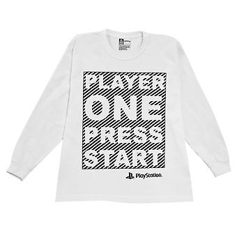 Playstation Boys Player One Press Start Long-Sleeved T-Shirt