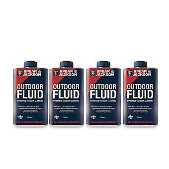 Outdoor Disinfectant Fluid 4 x 1 Litre  Spear & Jackson