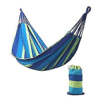 185 * 80Cm blue portable single swing hammock outdoor garden home travel camping striped rainbow swing canvas hammock az6296