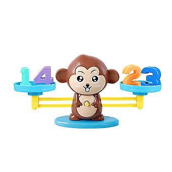 Braune Affen Zahl Addition und Subtraktion Balance Spiel, Kinder pädagogische Spielzeug Lernwerkzeuge über 3 Jahre alt az9920