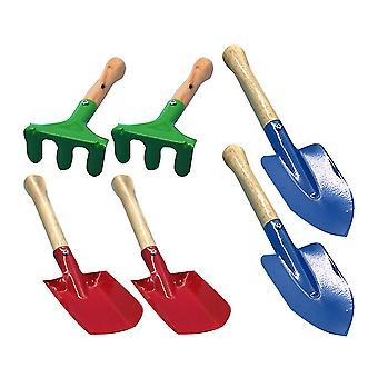 21 * 6.5 * 5Cm multicolor 6pcs mini ferramentas de jardim definir espátula rake pá casa jardinagem brinquedo praia para crianças dt2439