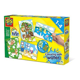 SES Creative Children's My First Colouring with Water Hidden Animals -toimintasarja
