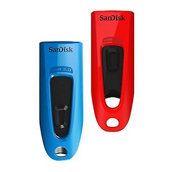 SanDisk Ultra 32 GB USB Flash Drive USB 3.0 Až 130 MB/s Čtení - Twin Pack