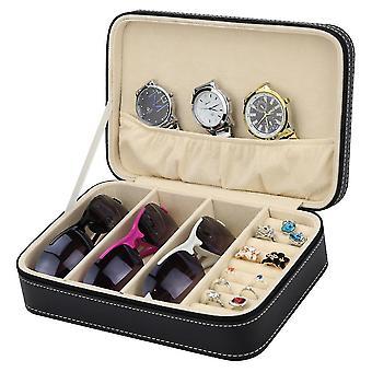 Multifunctional Jewelry Storage Box Leather Eye Glasses Organiser Display Box