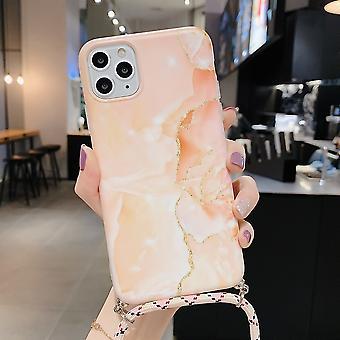 Lanyard marmeren patroon telefoonhoesje