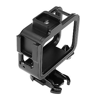 Metal Protective Case Shell Frame with Dual Cold Shoe Mount for GoPro Hero 8 Black Action Sports